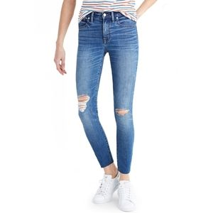 MADEWELL 9-Inch High-Rise Skinny Crop Jeans